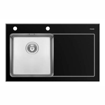 Kitchen sink CRYSTALON 86x53 black